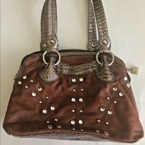 Kathy Van Zeeland Handbag Brown Clean